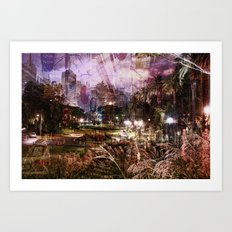 Double Exposure Art Art Print