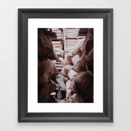 Coffee bags Framed Art Print