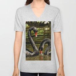 Black Swans Central Park Unisex V-Neck