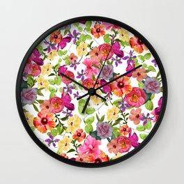 Zariya Flower Garden Wall Clock
