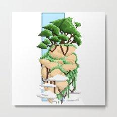 Pixel Landscape : Flying Rock Metal Print