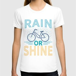Rain or shine | Bike print | Cycling art T-shirt