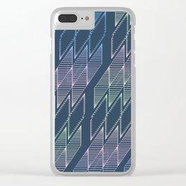 Diamonds (Blue) Clear iPhone Case