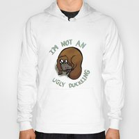 platypus Hoodies featuring The platypus problem by Simplasticity