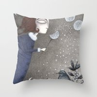 twilight Throw Pillows featuring Winter Twilight by Judith Clay