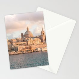 Valletta at Golden Hour Stationery Cards