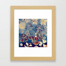 funny summer pattern Framed Art Print