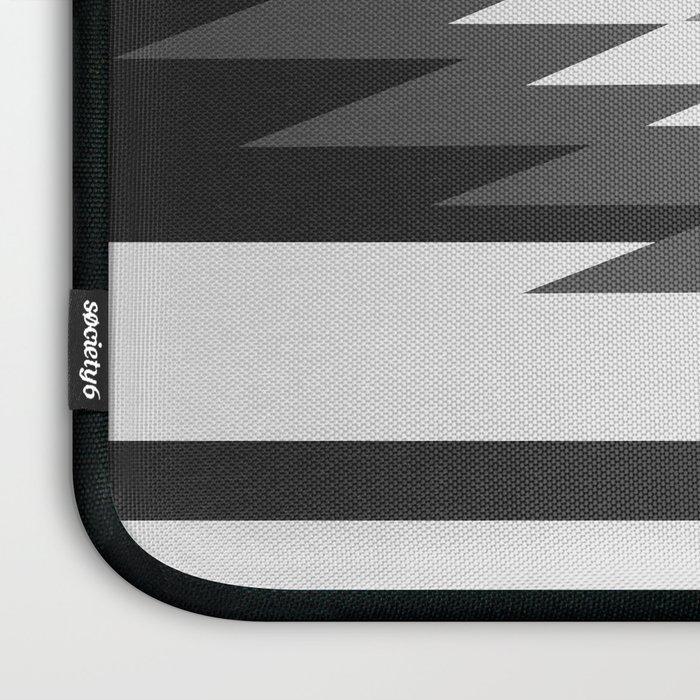 Aztec - black and white Laptop Sleeve