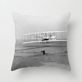 Wright Brothers First flight Kitty Hawk North Carolina December 17 1903 Throw Pillow