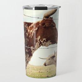 Texas Longhorn Cattle Travel Mug