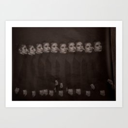 Take ten girls multi-flash Art Print