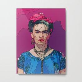 Frida custom wall art 3 Metal Print