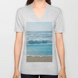 Blue Sea Backdrop Unisex V-Neck