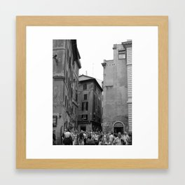 Bubbles above the Piazza Framed Art Print