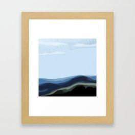 Raining in South Dakota Framed Art Print