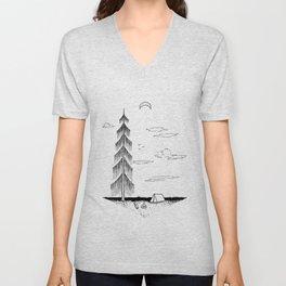 Droopy Tree Unisex V-Neck