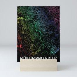 Mülheim an der Ruhr, Germany, City, Map, Rainbow, Map, Art, Print Mini Art Print