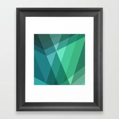 Fig. 046 Mint, Sea Green, Blue & Teal Geometric Framed Art Print