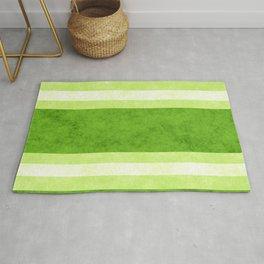 Grunge Stripes Simple Modern Minimal Pattern - Lime Green Rug