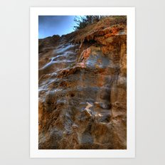The Cliffs of Israel Art Print