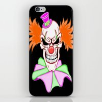 pennywise iPhone & iPod Skins featuring Demented Clown Skull by J&C Creations