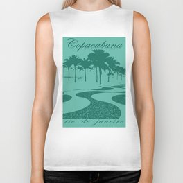 Copacabana beach, green Biker Tank