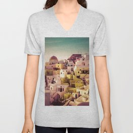 Oia Sunset #2 Unisex V-Neck