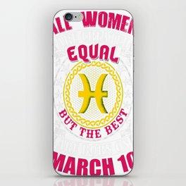 Best-Women-Born-On-March-10-Pisces---Sao-chép iPhone Skin