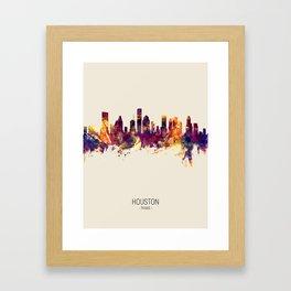 Houston Texas Skyline Framed Art Print