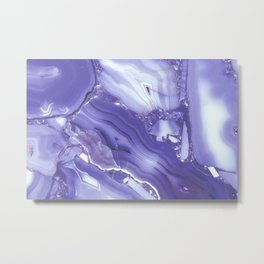 Indigo Blue Quartz Metal Print