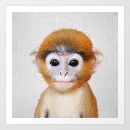 Baby Monkey - Colorful Art Print