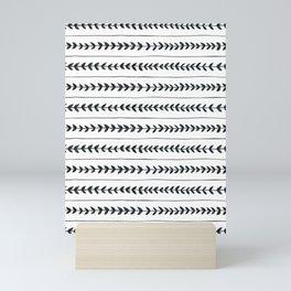 Laurel stripe - back and forth Mini Art Print