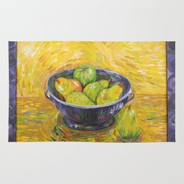 Still Life With Pears and Apples Rug