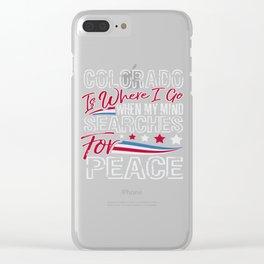 Colorado American Patriotic Memorial Day Clear iPhone Case