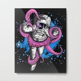 octopus astronaut Metal Print