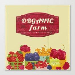 Organic Farm Market. Berries. Canvas Print