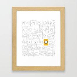 laundromat machine Framed Art Print