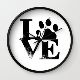 Funny Dog Gift - Love Gift for Dog Lover Wall Clock