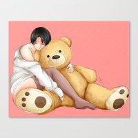 teddy bear Canvas Prints featuring Teddy by Sir-Snellby