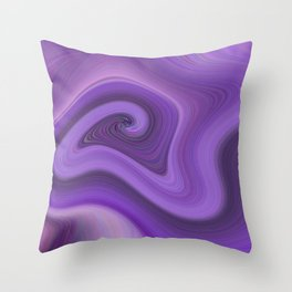 Purple daze 6 Throw Pillow