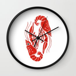 Lobsters Wall Clock
