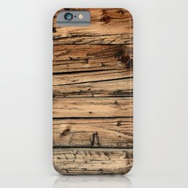 Old weathered pine wood iPhone Case