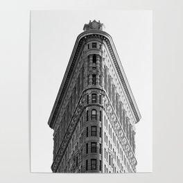 Flatiron Black and White NYC Poster