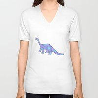 dinosaurs V-neck T-shirts featuring Dinosaurs by Mora