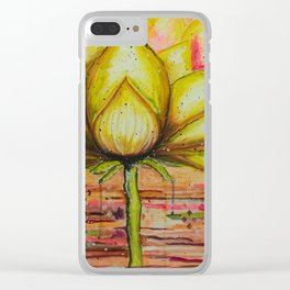 Gold Lotus - Gold Lotus Oracle Series Clear iPhone Case