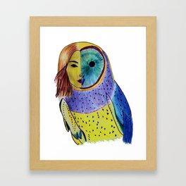 Owl woman Framed Art Print