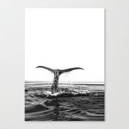 Whale Tail Canvas Print