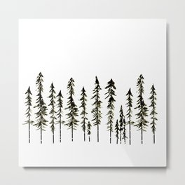 Northwoods Winter Forest Metal Print
