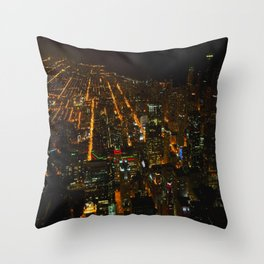 Looking Down on Downtown #1 (Chicago Architecture Collection) Throw Pillow