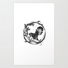 The New Zealand Fantail Art Print